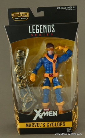 Marvel Legends Cyclops figure review - front package
