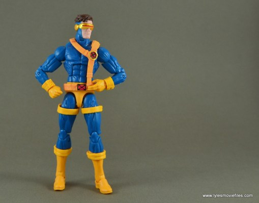 Marvel Legends Cyclops figure review -looking to the side
