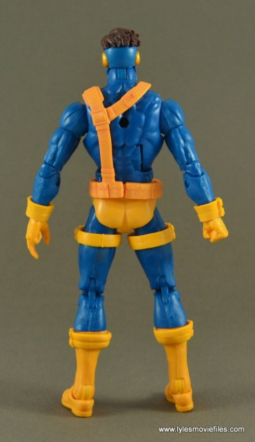 Marvel Legends Cyclops figure review -rear