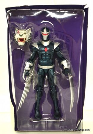 Marvel Legends Darkhawk figure review - accessories in tray