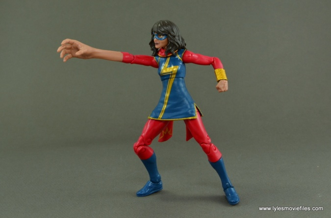 Marvel Legends Ms. Marvel figure review -reaching