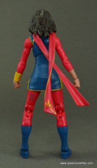 Marvel Legends Ms. Marvel figure review - rear side