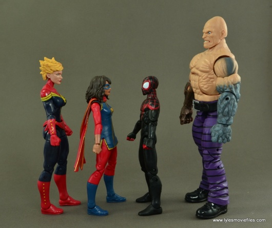 Marvel Legends Ms. Marvel figure review -scale with Captain Marvel, Miles Morales and Absorbing Man