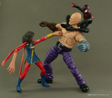 Marvel Legends Ms. Marvel figure review - vs Absorbing Man with Miles Morales