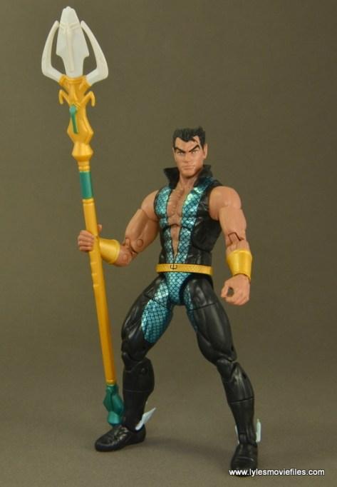 Marvel Legends Namor figure review -holding trident