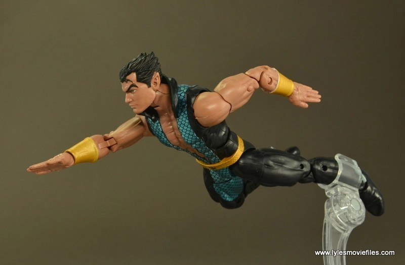 Marvel Legends Namor figure review -swimming
