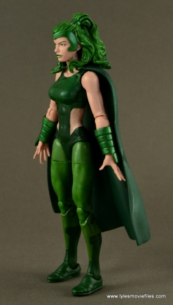 Marvel Legends Polaris figure review - left side
