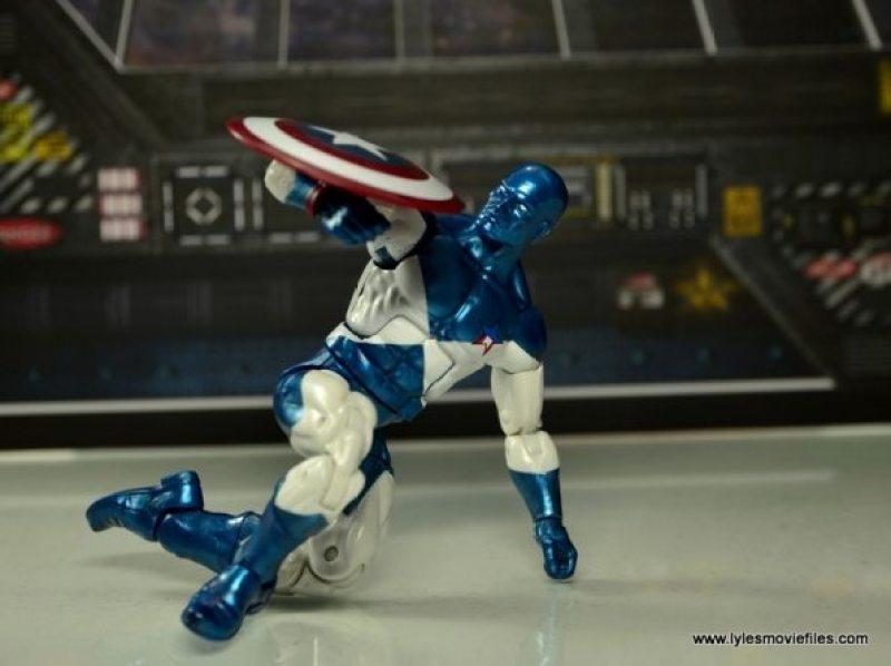 Marvel Legends Vance Astro figure review - blocking with shield