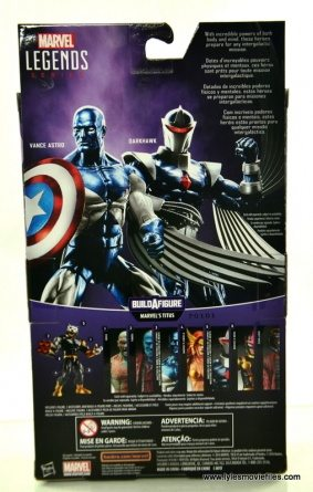 Marvel Legends Vance Astro figure review - package rear