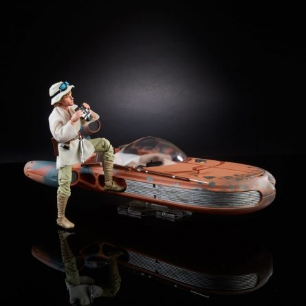 Star Wars Black Luke Skywalker and landspeeder right sode