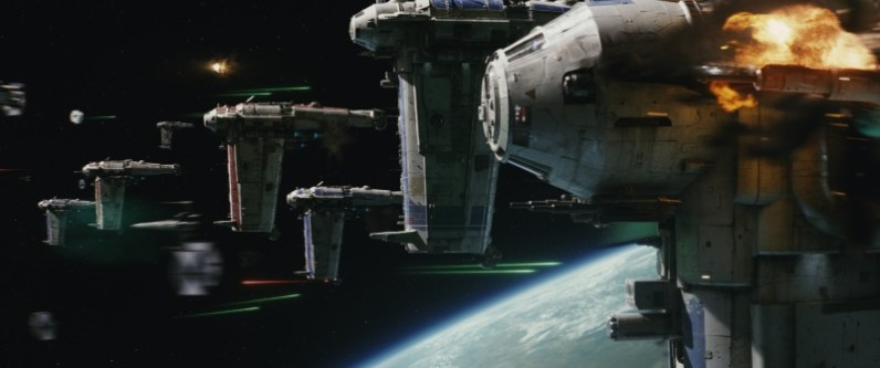 Star Wars Episode VII - The Last Jedi trailer images - space fight