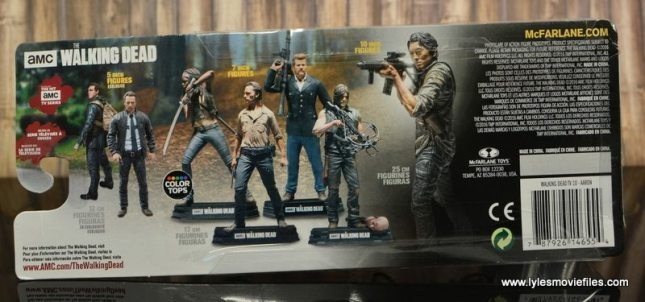 The Walking Dead Aaron figure review -package rear