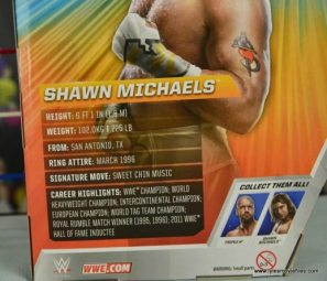 WWE Wrestlemania 12 Elite Shawn Michaels figure review - bio