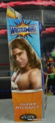 WWE Wrestlemania 12 Elite Shawn Michaels figure review - package side