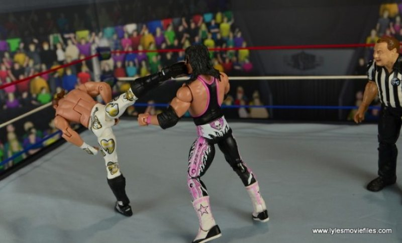 WWE Wrestlemania 12 Elite Shawn Michaels figure review - superkick for WM