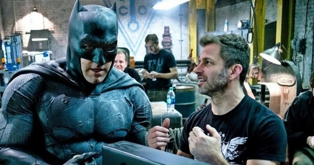 Ben Affleck as Batman with Zack Snyder