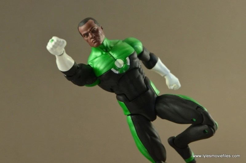 DC Icons John Stewart figure review - flying
