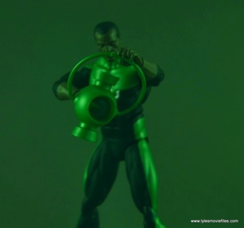 DC Icons John Stewart figure review - powered up green