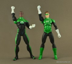 DC Icons John Stewart figure review - saying the oath with Hal