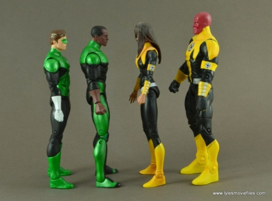 DC Icons John Stewart figure review - scale with Hal and Sinestro Corps DC Classics