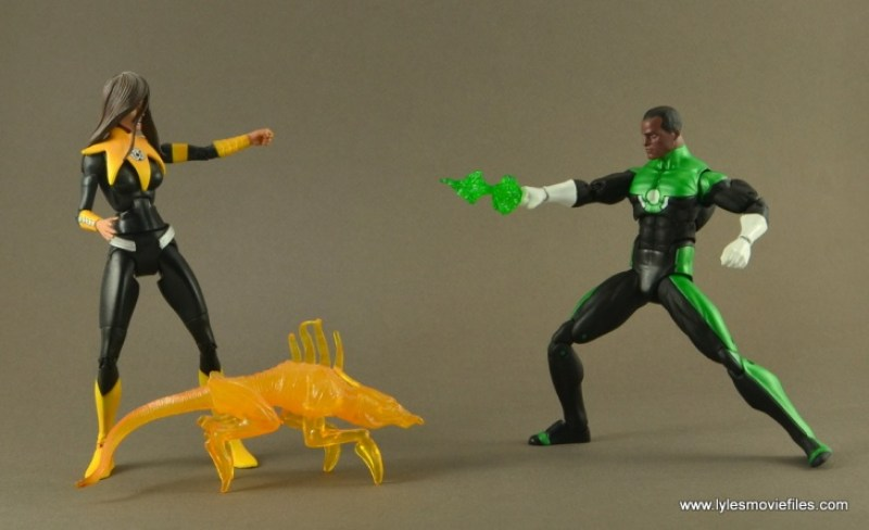 DC Icons John Stewart figure review - vs Karu-Sil