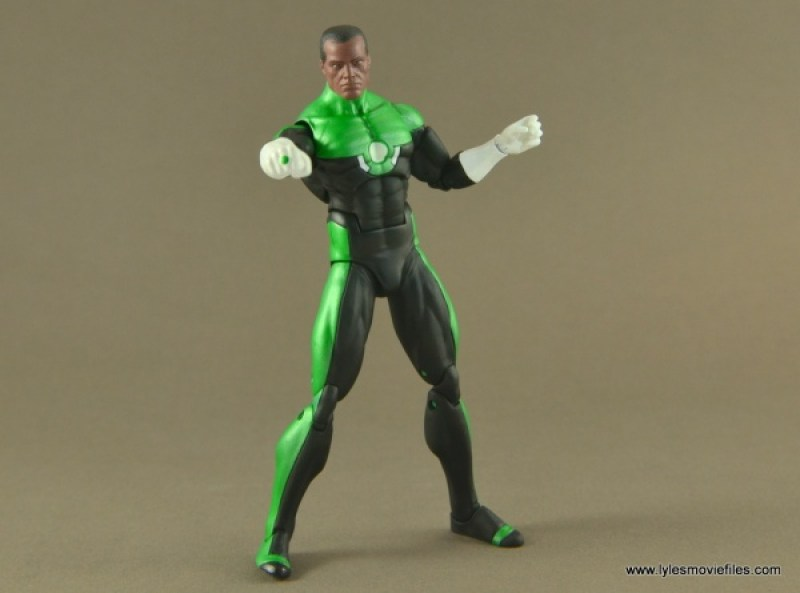 DC Icons John Stewart figure review -wide battle stance