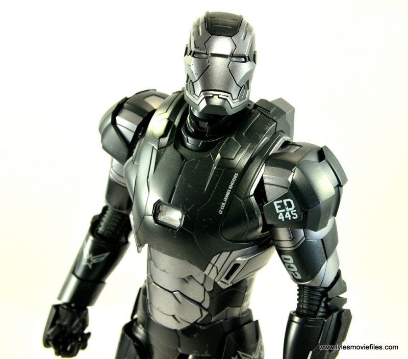 Hot Toys War Machine Age of Ultron figure review -looking up