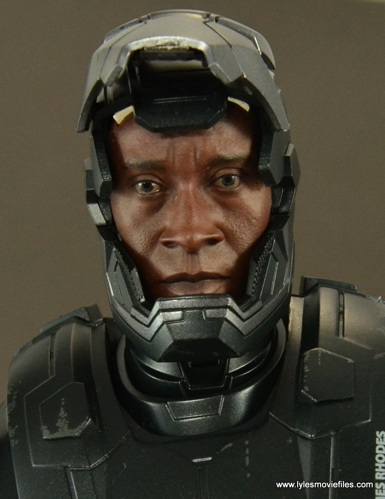 Hot Toys War Machine Age of Ultron figure review -unmasked Don Cheadle likeness