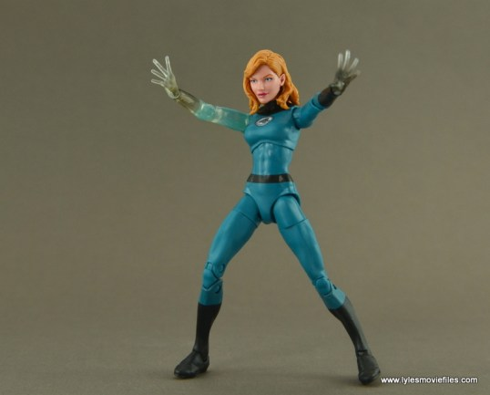 Marvel Legends Invisible Woman figure review -arms out