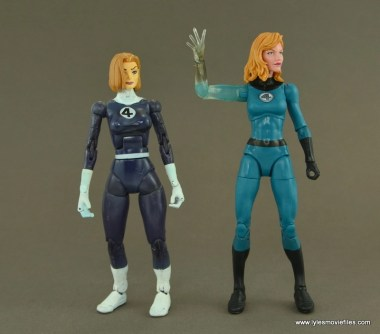 Marvel Legends Invisible Woman figure review -with Toy Biz Invisible Woman