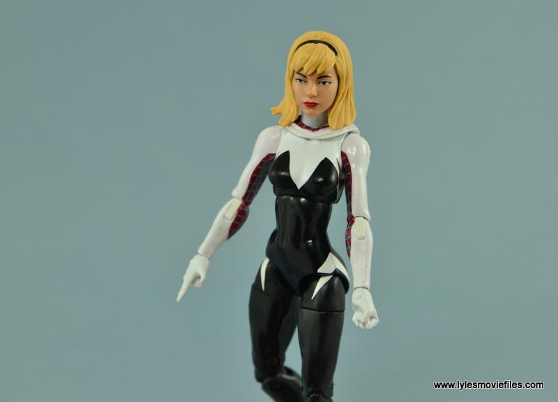 Marvel Legends Spider-Gwen figure review - mask off Gwen Stacy head