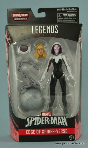 Marvel Legends Spider-Gwen figure review - package front