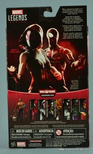Marvel Legends Spider-Gwen figure review - package rear