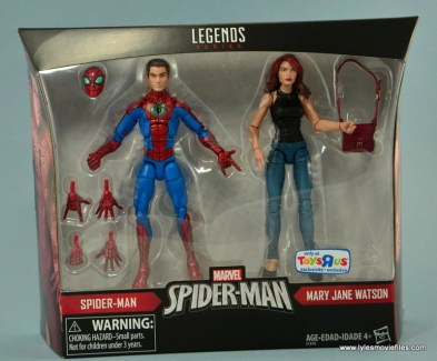 Marvel Legends Spider-Man and Mary Jane Watson figure review - package front