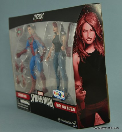 Marvel Legends Spider-Man and Mary Jane Watson figure review - package side Mary Jane