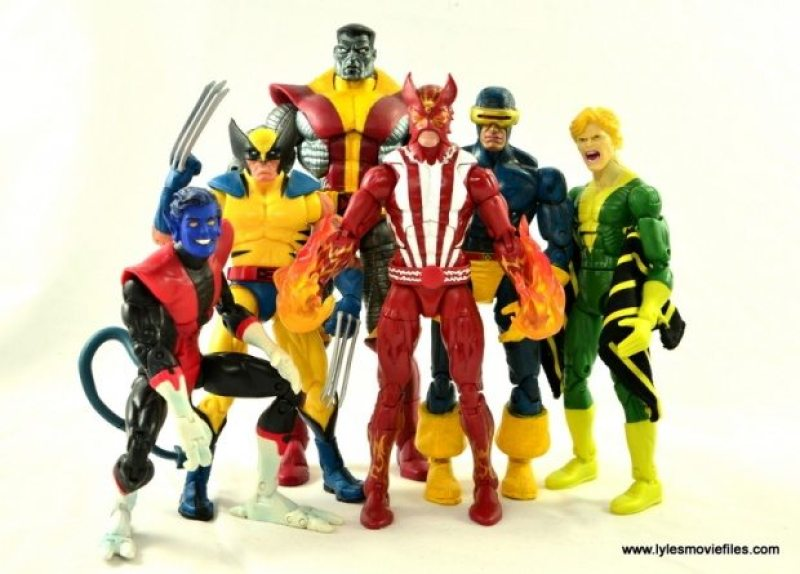 Marvel Legends Sunfire figure review -Nightcrawler, Wolverine, Colossus, Cyclops and Banshee