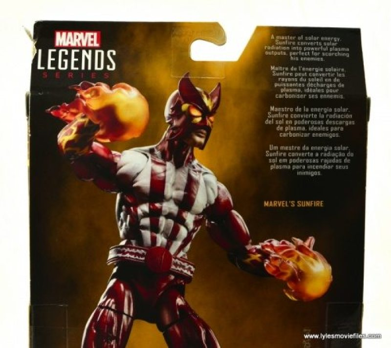 Marvel Legends Sunfire figure review -bio