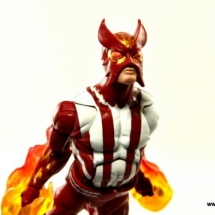 Marvel Legends Sunfire figure review -flying forward