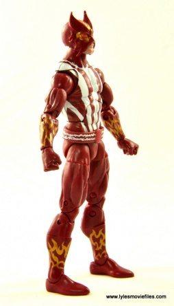 Marvel Legends Sunfire figure review - right side