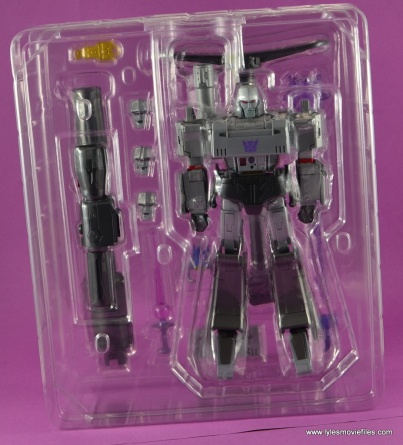 Transformers Masterpiece Megatron figure review -figure in tray