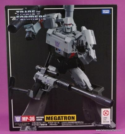 Transformers Masterpiece Megatron figure review -package front