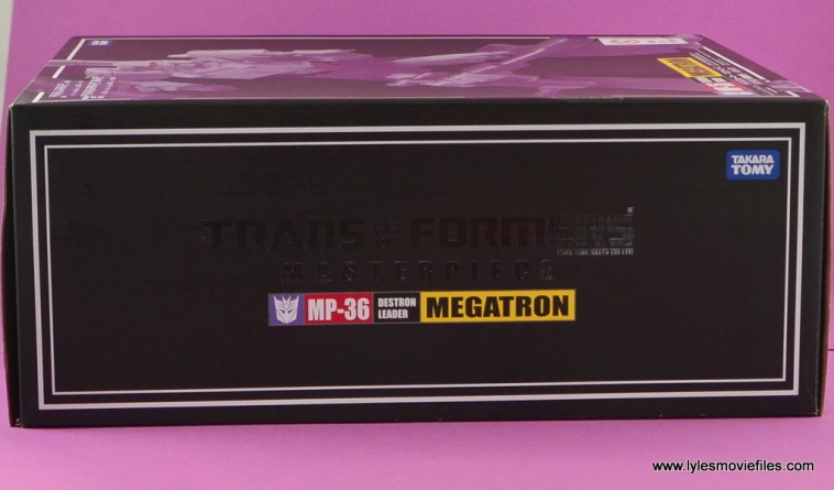 Transformers Masterpiece Megatron figure review -package side