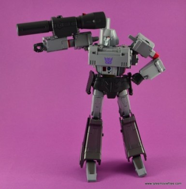 Transformers Masterpiece Megatron figure review -side shot of cannon
