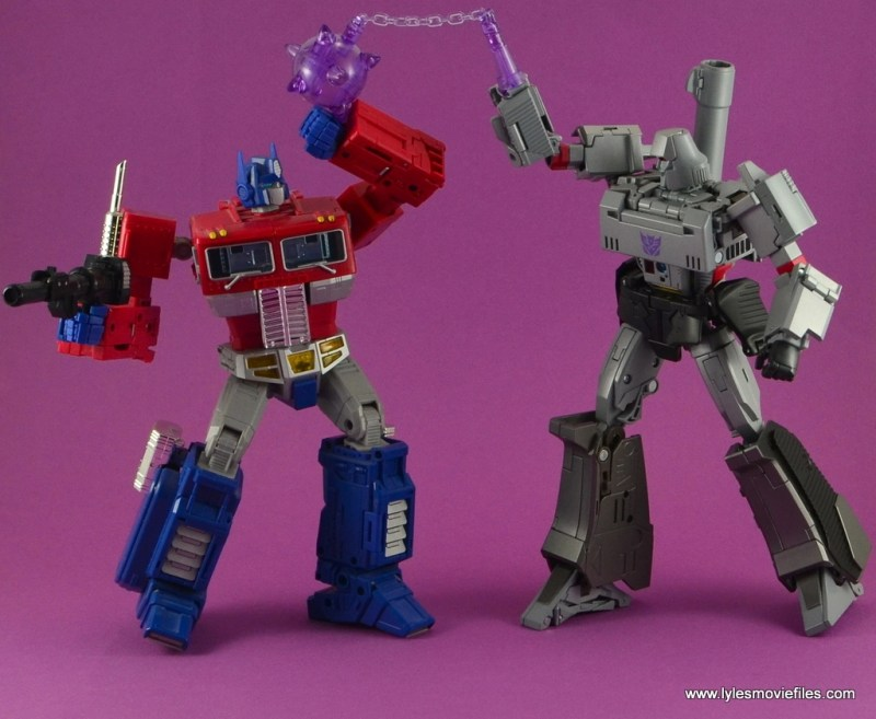 Transformers Masterpiece Megatron figure review -vs Optimus Prime