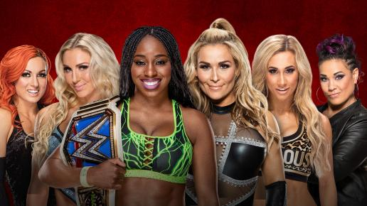 WWE Backlash 2017 - Charlotte, Becky and Naomi vs Tamina, Natalya and Carmella