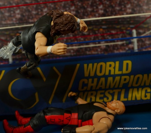 WWE Elite 48 Cactus Jack figure review -Cactus elbow on Vader