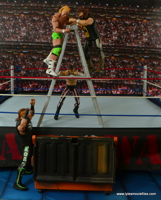 WWE Elite 48 Cactus Jack figure review -ladder match vs New Age Outlaws