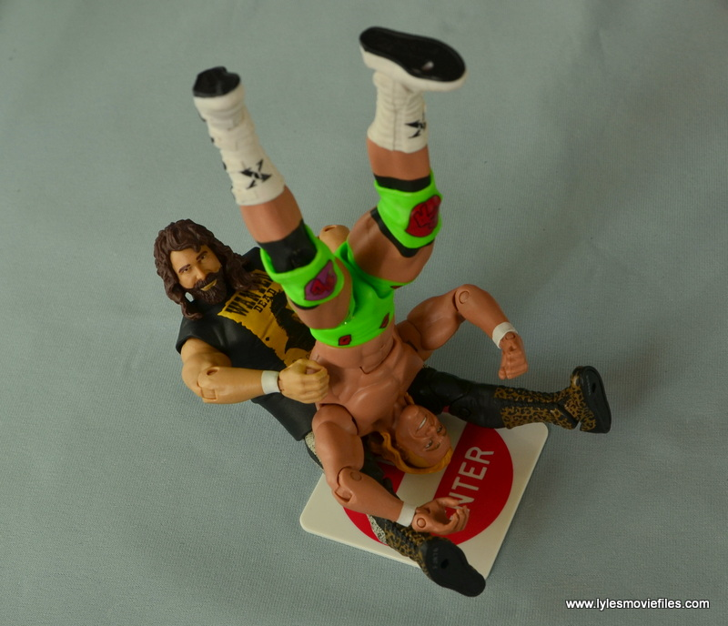 WWE Elite 48 Cactus Jack figure review -piledriver to Billy Gunn on sign