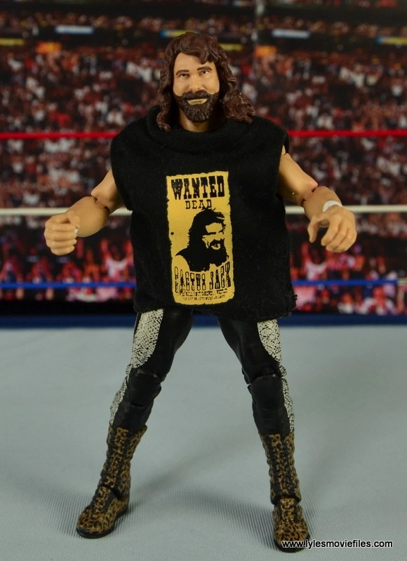 WWE Elite 48 Cactus Jack figure review -with Jakks cloth shirt