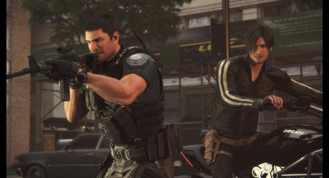 resident-evil-vendetta-chris redfield and leon kennedy